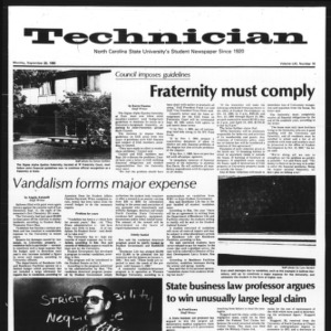 Technician, Vol. 61 No. 16, September 29, 1980