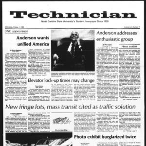 Technician, Vol. 61 No. 17, October 1, 1980
