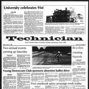 Technician, Vol. 61 No. 18, October 3, 1980