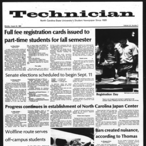 Technician, Vol. 61 No. 2, August 25, 1980