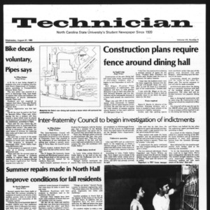 Technician, Vol. 61 No. 3, August 27, 1980