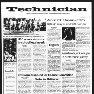 Technician, Vol. 61 No. 30, November 1, 1980