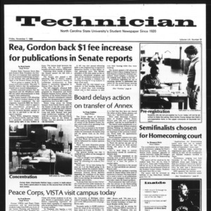 Technician, Vol. 61 No. 32, November 7, 1980