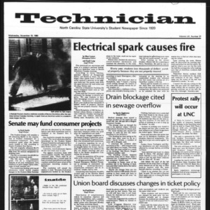 Technician, Vol. 61 No. 37, November 19, 1980