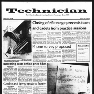 Technician, Vol. 61 No. 4, August 29, 1980