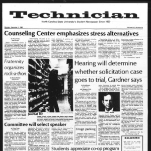 Technician, Vol. 61 No. 41, December 1, 1980