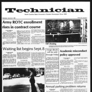 Technician, Vol. 61 No. 5, September 3, 1980