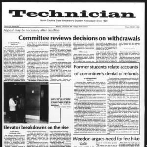 Technician, Vol. 61 No. 50, January 26, 1981