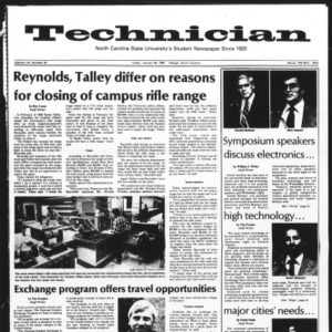 Technician, Vol. 61 No. 52, January 30, 1981