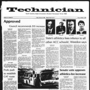 Technician, Vol. 61 No. 55, February 6, 1981