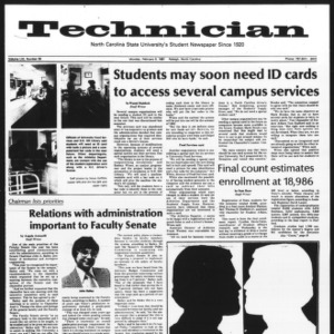 Technician, Vol. 61 No. 56, February 9, 1981