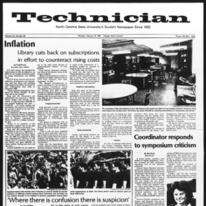 Technician, Vol. 61 No. 59, February 16, 1981