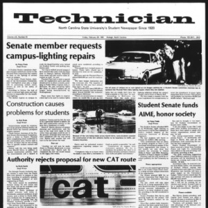 Technician, Vol. 61 No. 61, February 20, 1981