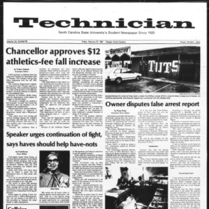 Technician, Vol. 61 No. 64, February 27, 1981