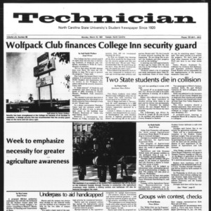 Technician, Vol. 61 No. 68, March 16, 1981