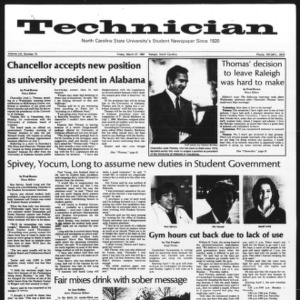 Technician, Vol. 61 No. 73, March 27, 1981