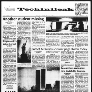 Technician: Techinileak, Vol. 61 No. 76, March 34, 1981 [April 1, 1981]