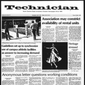 Technician, Vol. 61 No. 78, April 8, 1981