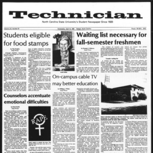 Technician, Vol. 61 No. 81, April 15, 1981