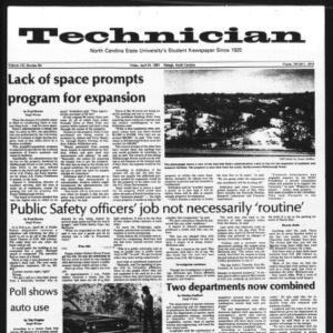 Technician, Vol. 61 No. 84, April 24, 1981