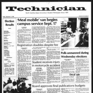 Technician, Vol. 61 No. 9, September 12, 1980