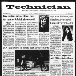 Technician, Vol. 62 No. 1, August 27, 1981