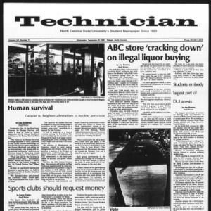 Technician, Vol. 62 No. 11, September 23, 1981