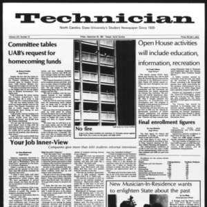 Technician, Vol. 62 No. 12, September 25, 1981