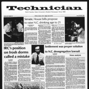 Technician, Vol. 62 No. 16, October 5, 1981