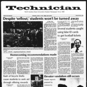 Technician, Vol. 62 No. 20, October 14, 1981