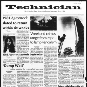 Technician, Vol. 62 No. 22, October 21, 1981