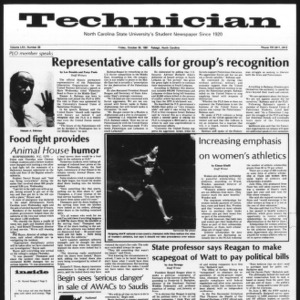 Technician, Vol. 62 No. 26, October 30, 1981