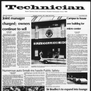 Technician, Vol. 62 No. 28, November 4, 1981
