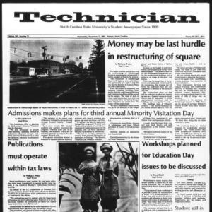 Technician, Vol. 62 No. 31, November 11, 1981