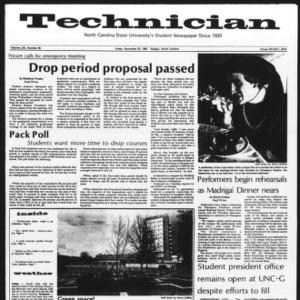Technician, Vol. 62 No. 35, November 20, 1981