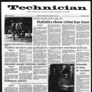 Technician, Vol. 62 No. 37, November 25, 1981