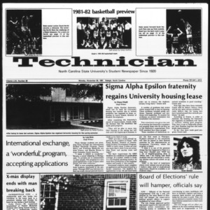 Technician, Vol. 62 No. 38, November 30, 1981