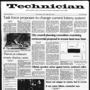 Technician, Vol. 62 No. 40, December 4, 1981