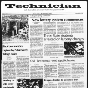 Technician, Vol. 62 No. 44, January 11, 1982