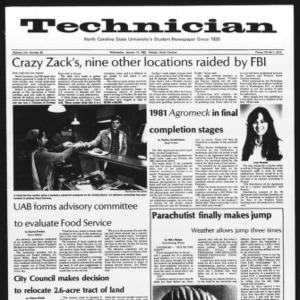 Technician, Vol. 62 No. 45, January 13, 1982