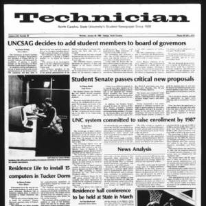 Technician, Vol. 62 No. 50, January 25, 1982