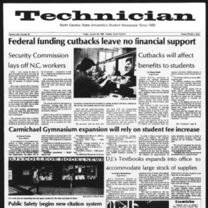 Technician, Vol. 62 No. 52, January 29, 1982