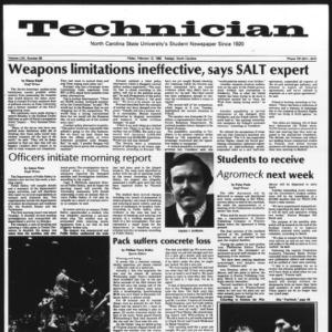 Technician, Vol. 62 No. 58, February 12, 1982