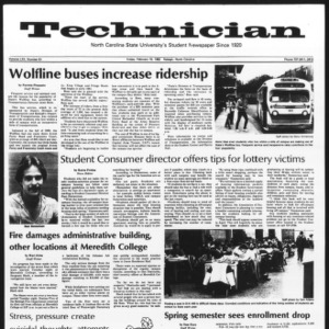 Technician, Vol. 62 No. 61, February 19, 1982