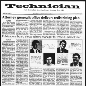 Technician, Vol. 62 No. 62, February 22, 1982