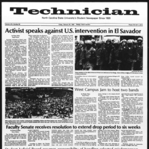 Technician, Vol. 62 No. 64, February 26, 1982