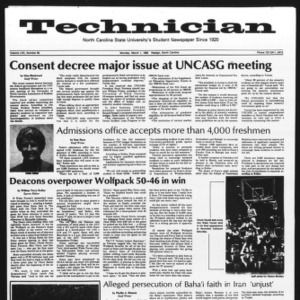 Technician, Vol. 62 No. 65, March 1, 1982
