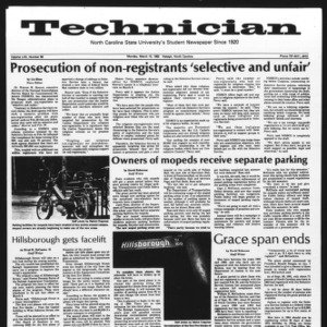 Technician, Vol. 62 No. 68, March 15, 1982