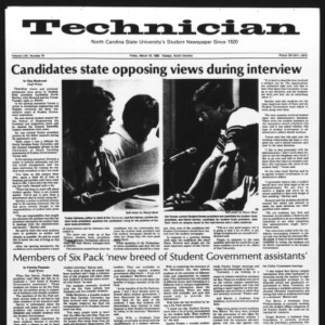 Technician, Vol. 62 No. 70, March 19, 1982