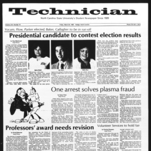 Technician, Vol. 62 No. 73, March 26, 1982